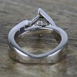 1 Carat Princess Diamond with Bezel Bridge Ring Setting - small angle 4