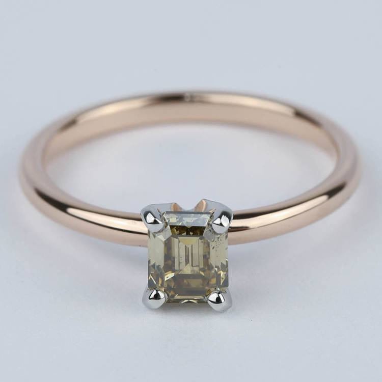Fancy Brown Emerald Diamond Engagement Ring (0.98 ct.)