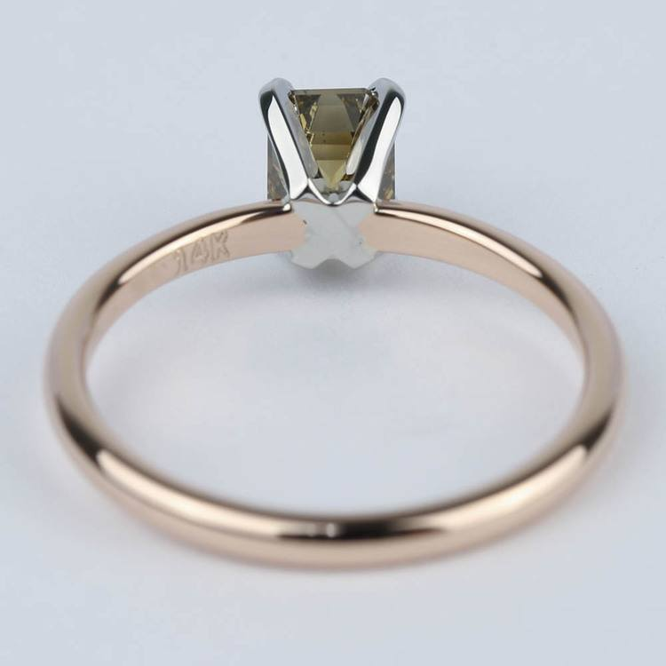 Fancy Brown Emerald Diamond Engagement Ring (0.98 ct.) angle 4