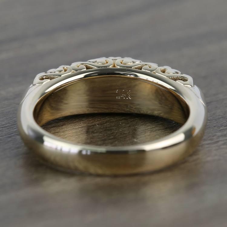 0.83 Carat Custom Antique 5-Stone Sapphire Engagement Ring angle 4