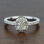 1.00 Carat Floating Halo Cushion Loose Diamond Engagement Ring - small
