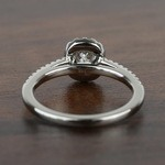 1.00 Carat Floating Halo Cushion Loose Diamond Engagement Ring - small angle 4