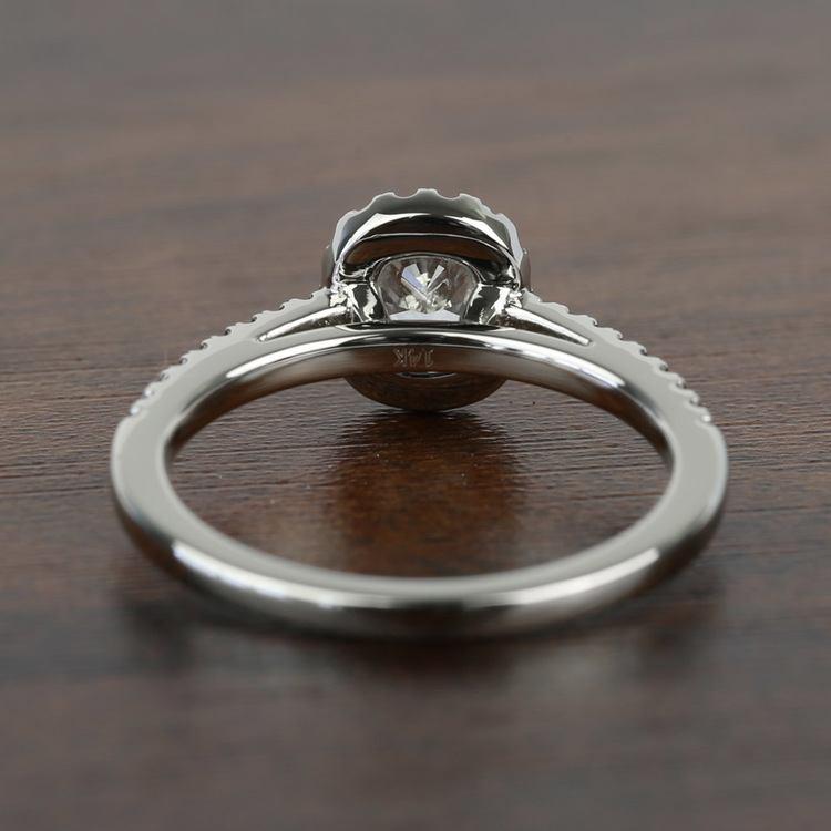 1.00 Carat Floating Halo Cushion Loose Diamond Engagement Ring angle 4