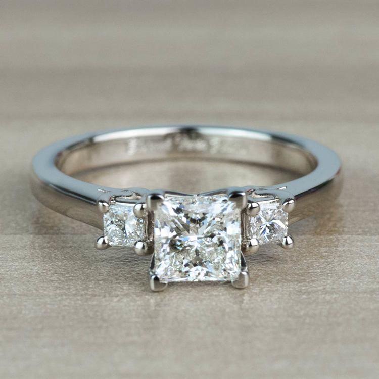 1.01 Carat Princess Trellis Diamond Engagement Ring
