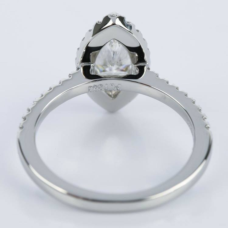 Marquise Diamond Halo Engagement Ring (1.03 ct.) angle 4