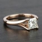 Custom Princess Split Shank Diamond Engagement Ring (1 Carat) - small angle 3