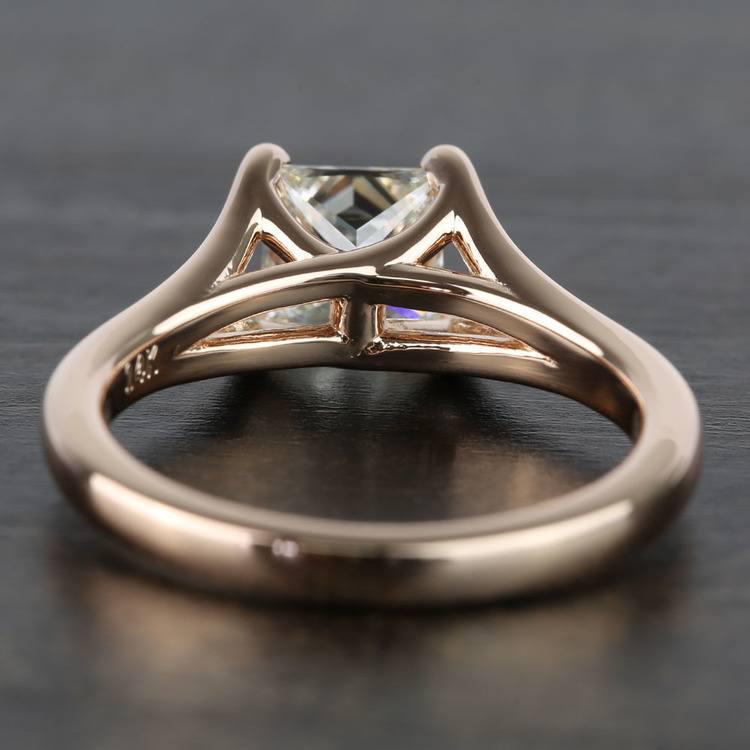 Custom Princess Split Shank Diamond Engagement Ring (1 Carat) angle 4