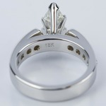 1.06 Carat Marquise Cathedral Diamond Ring with Channel Setting  - small angle 4