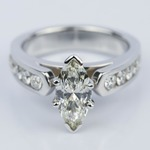 1.06 Carat Marquise Cathedral Diamond Ring with Channel Setting  - small