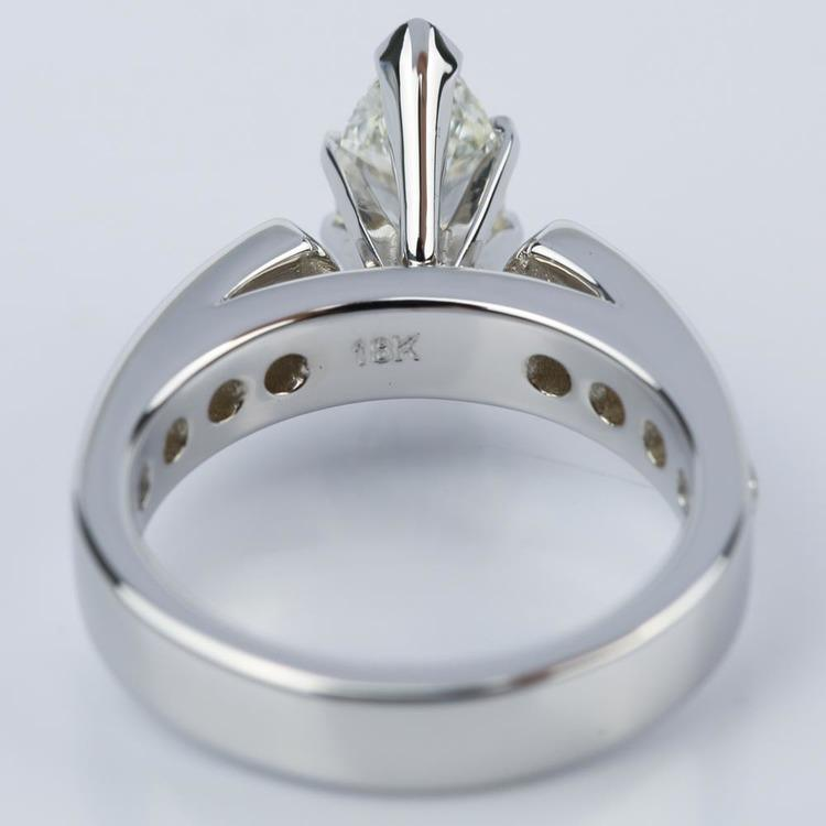 1.06 Carat Marquise Cathedral Diamond Ring with Channel Setting  angle 4