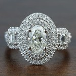 1.08 Carat Oval Double Halo Diamond Engagement Ring - small