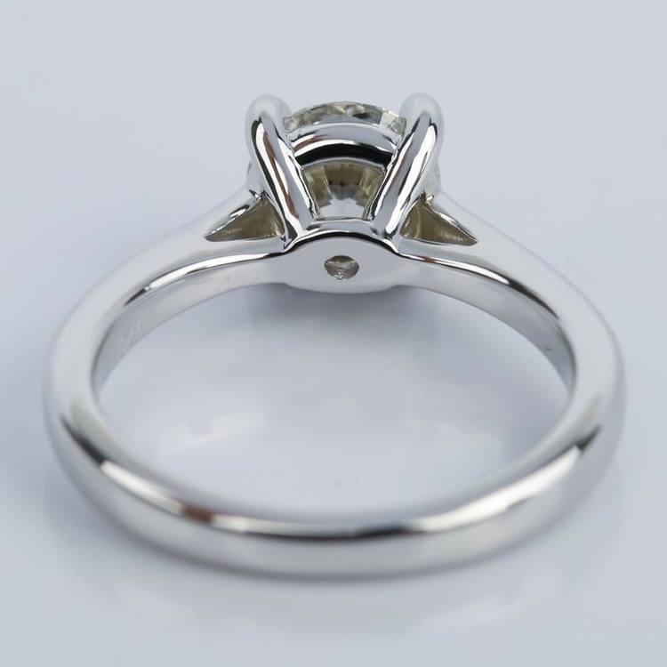 1.09 Carat Round Petite Solitaire Diamond Engagement Ring angle 4