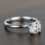 1.10 Carat Comfort-Fit Round Solitaire Diamond Engagement Ring - small angle 3