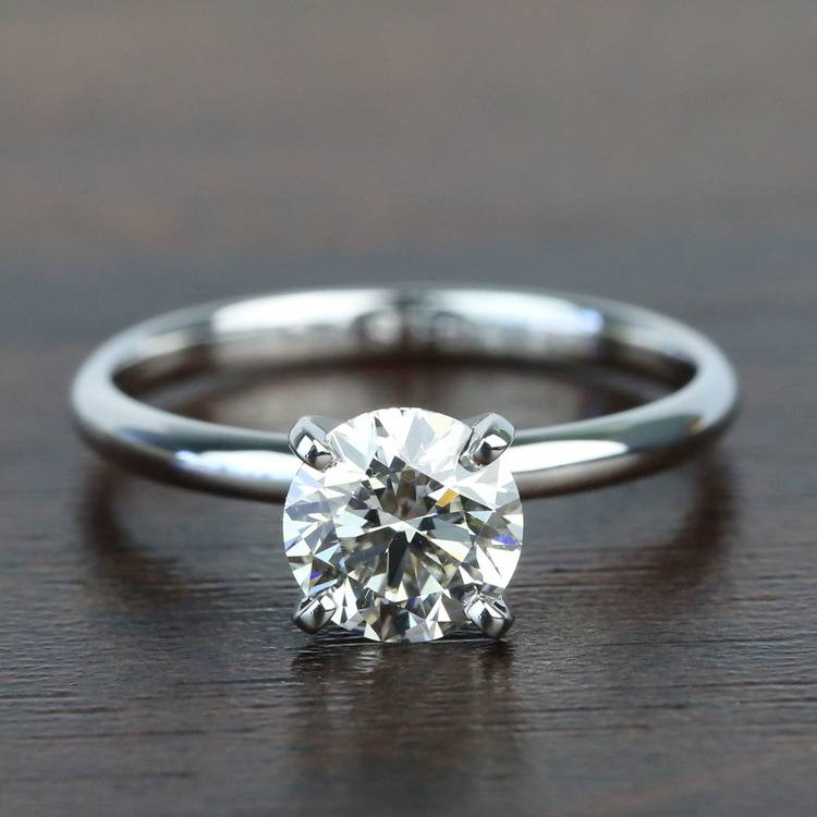 1.10 Carat Comfort-Fit Round Solitaire Diamond Engagement Ring