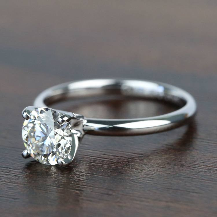 1.10 Carat Comfort-Fit Round Solitaire Diamond Engagement Ring angle 2