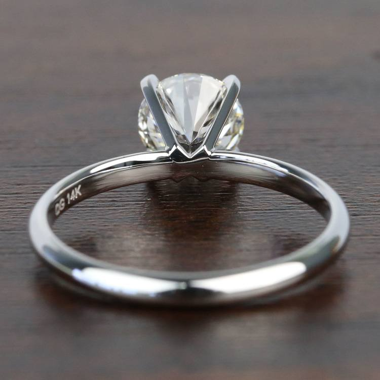 1.10 Carat Comfort-Fit Round Solitaire Diamond Engagement Ring angle 4