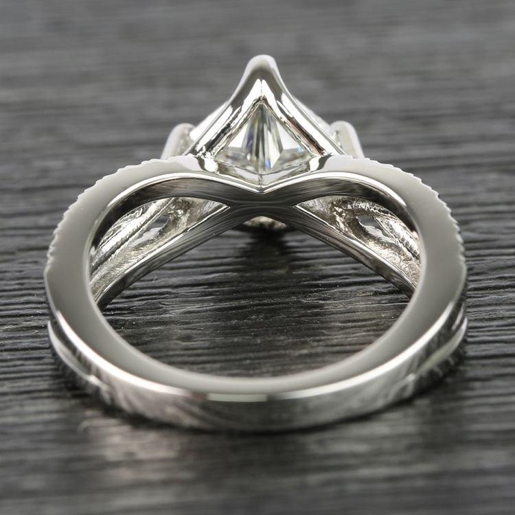 1.10 Carat Princess Twisted Split Shank Diamond Ring angle 4