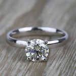 1.19 Carat Round Classic Solitaire Diamond Engagement Ring - small