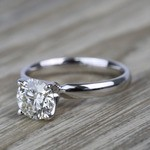1.19 Carat Round Classic Solitaire Diamond Engagement Ring - small angle 2