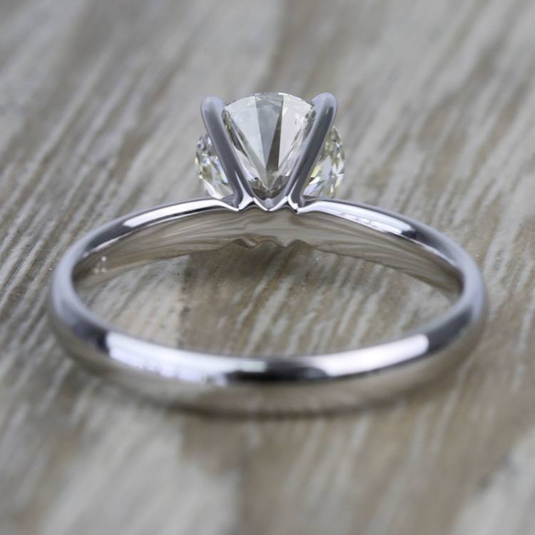 1.19 Carat Round Classic Solitaire Diamond Engagement Ring angle 4