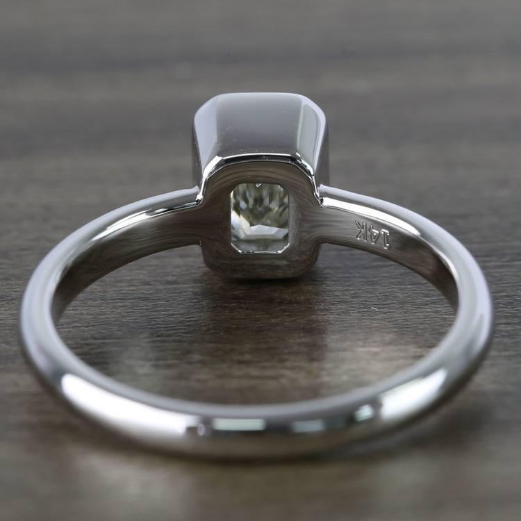 Emerald Bezel Solitaire Diamond Engagement Ring (1 Carat) angle 4