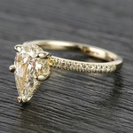 1.20 Carat Pear Claw Prong Diamond Engagement Ring - small angle 2