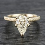 1.20 Carat Pear Claw Prong Diamond Engagement Ring - small