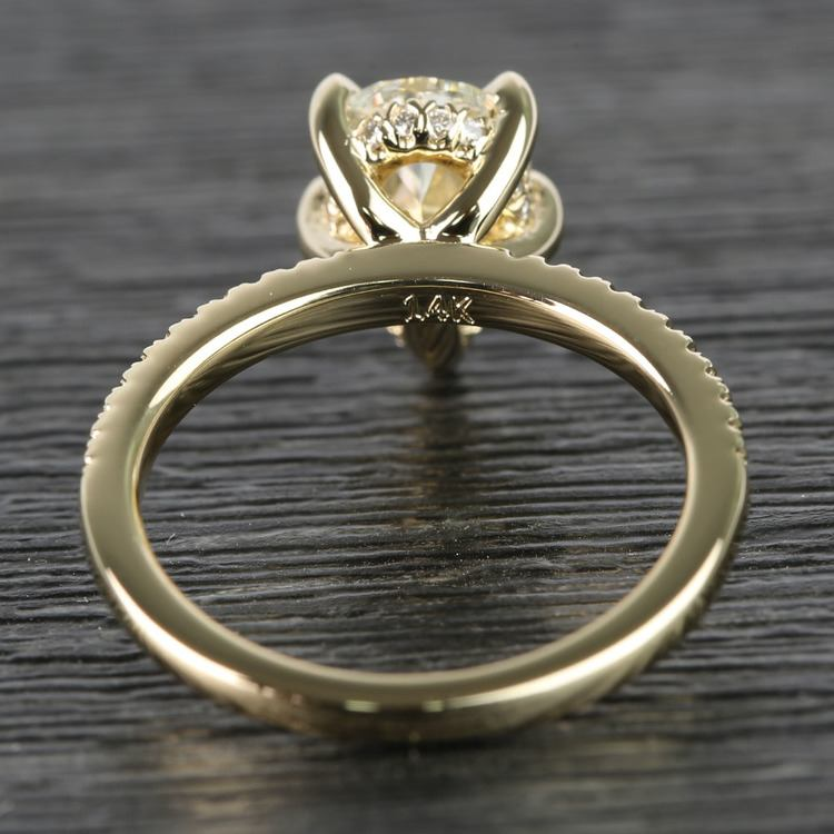 1.20 Carat Pear Claw Prong Diamond Engagement Ring angle 4