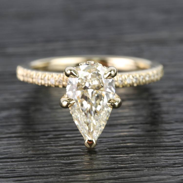 1.20 Carat Pear Claw Prong Diamond Engagement Ring