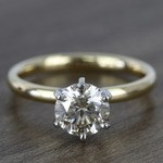 1.20 Carat Round Comfort-Fit Solitaire Diamond Engagement Ring - small