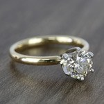 1.20 Carat Round Comfort-Fit Solitaire Diamond Engagement Ring - small angle 3