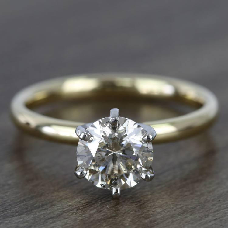 1.20 Carat Round Comfort-Fit Solitaire Diamond Engagement Ring
