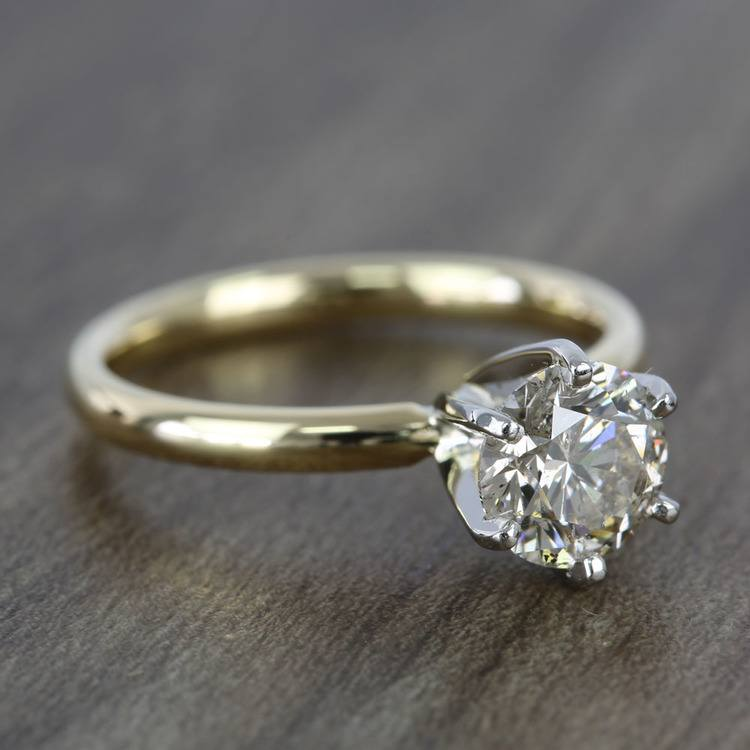 1.20 Carat Round Comfort-Fit Solitaire Diamond Engagement Ring angle 3