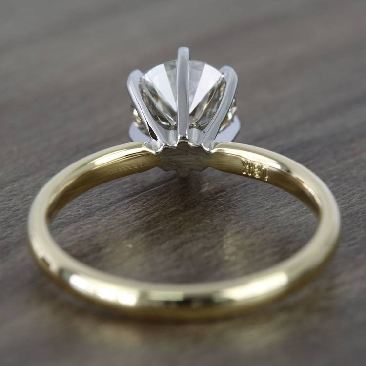 1.20 Carat Round Comfort-Fit Solitaire Diamond Engagement Ring angle 4