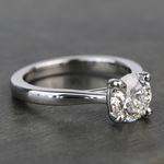 1.20 Carat Round Diamond Taper Solitaire Engagement Ring - small angle 3