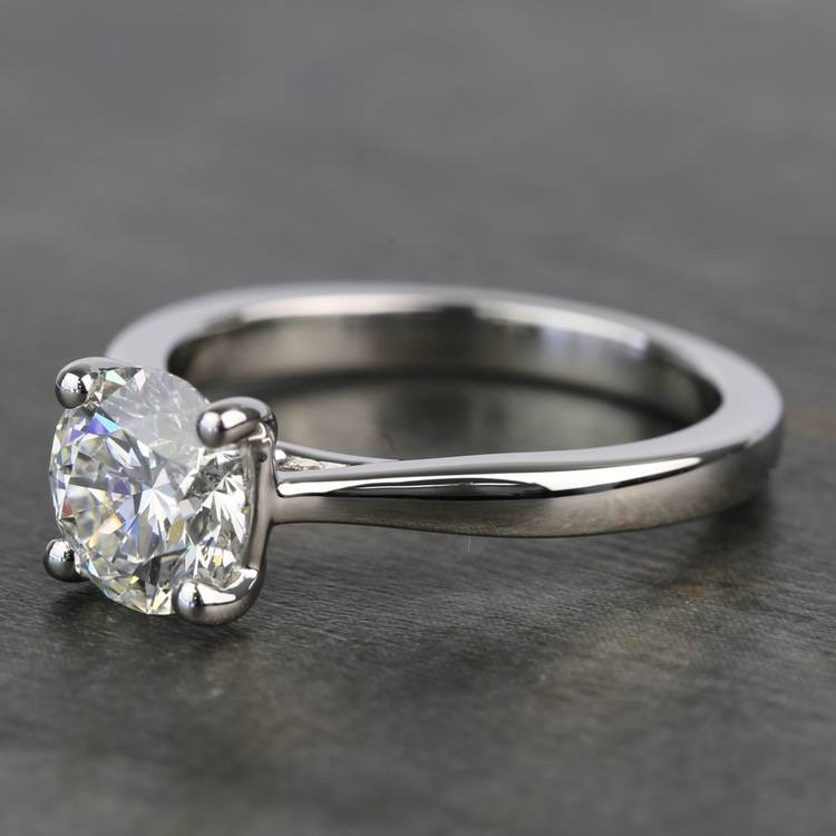 1.20 Carat Round Diamond Taper Solitaire Engagement Ring angle 2