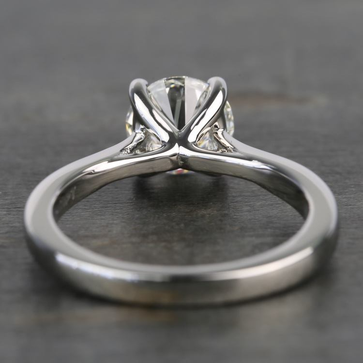 1.20 Carat Round Diamond Taper Solitaire Engagement Ring angle 4