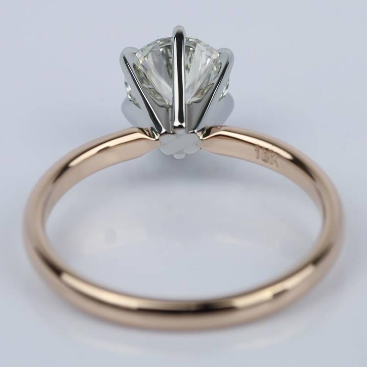 1.21 Carat Round Internally Flawless Diamond Engagement Ring angle 4