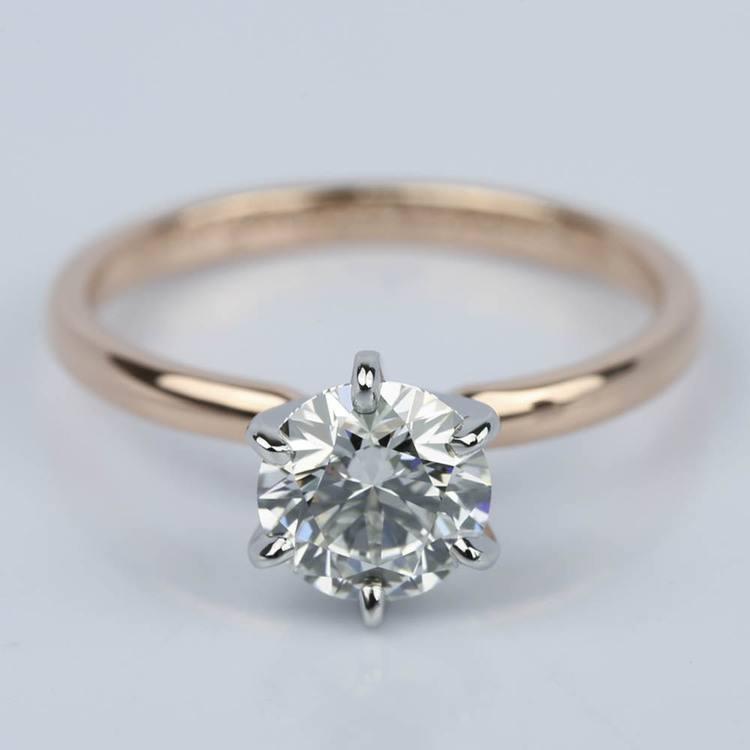 1.21 Carat Round Internally Flawless Diamond Engagement Ring