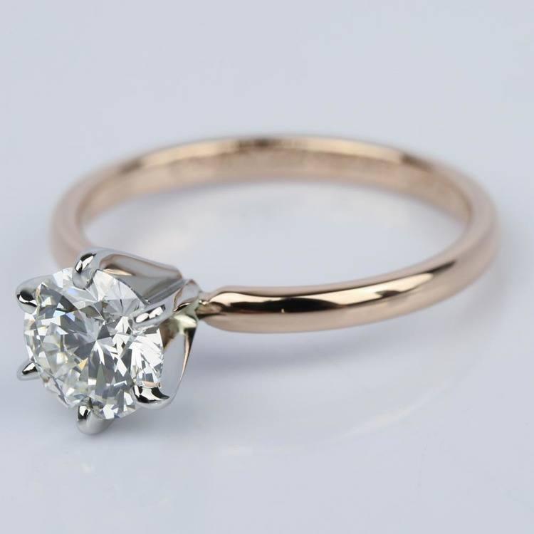 1.21 Carat Round Internally Flawless Diamond Engagement Ring angle 2