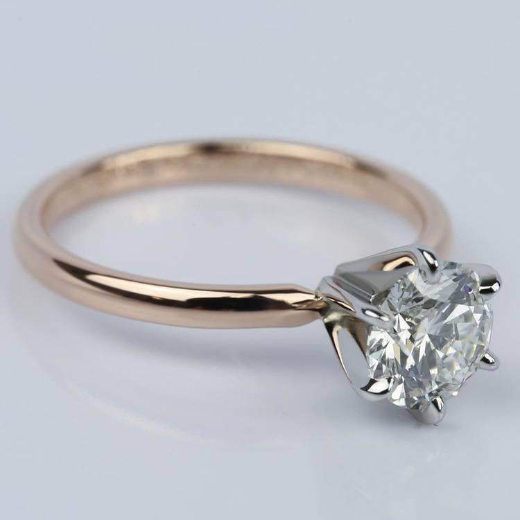 1.21 Carat Round Internally Flawless Diamond Engagement Ring angle 3
