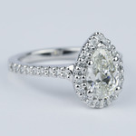 Flawless Pear Diamond Halo Engagement Ring (1.25 Carat) - small angle 3