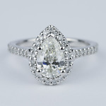 Flawless Pear Diamond Halo Engagement Ring (1.25 Carat) - small