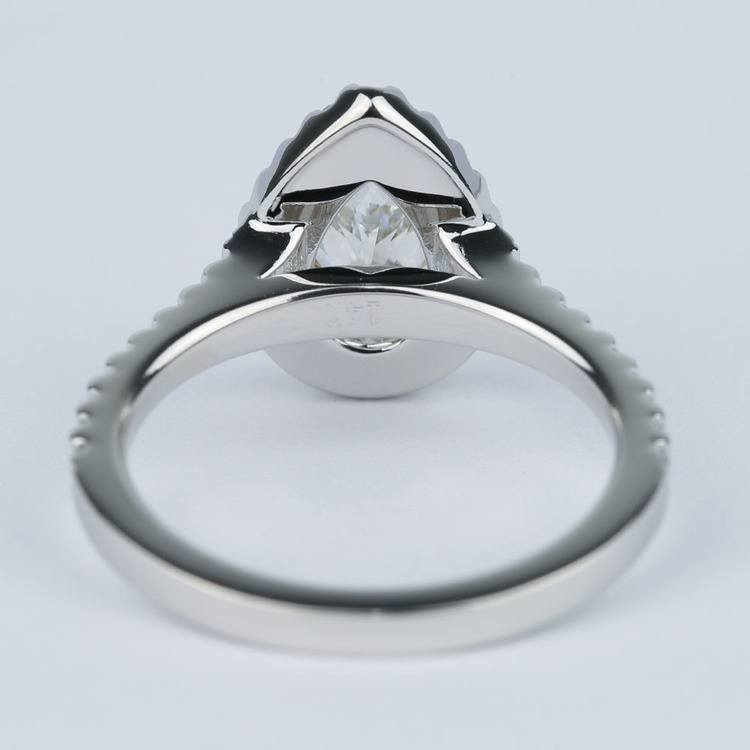 Flawless Pear Diamond Halo Engagement Ring (1.25 Carat) angle 4