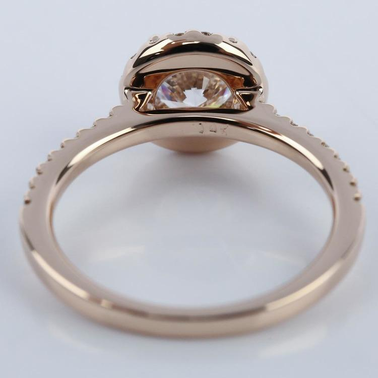 1.25 Carat Diamond Halo Engagement Ring in Rose Gold angle 4