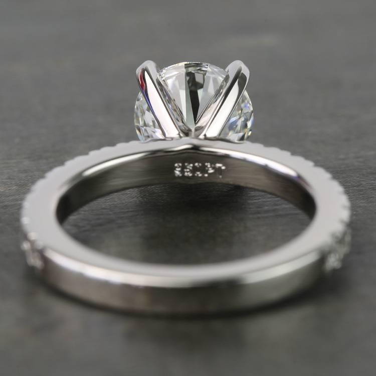 1.25 Carat Round Petite Pave Diamond Engagement Ring angle 4