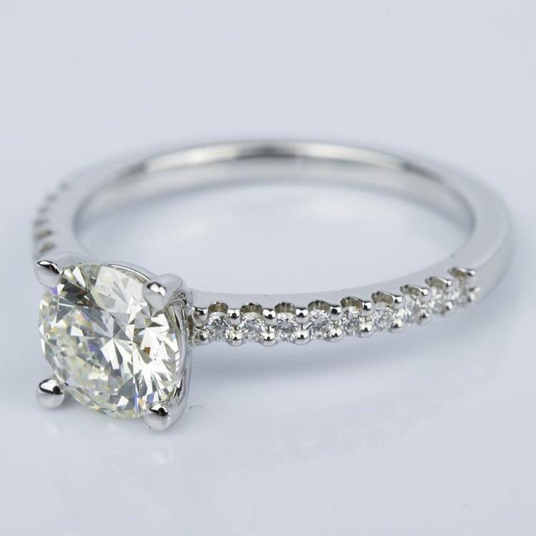 Super Ideal Cut Diamond Engagement Ring (1.25 ct.) angle 2