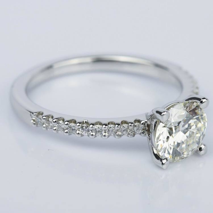 Super Ideal Cut Diamond Engagement Ring (1.25 ct.) angle 3
