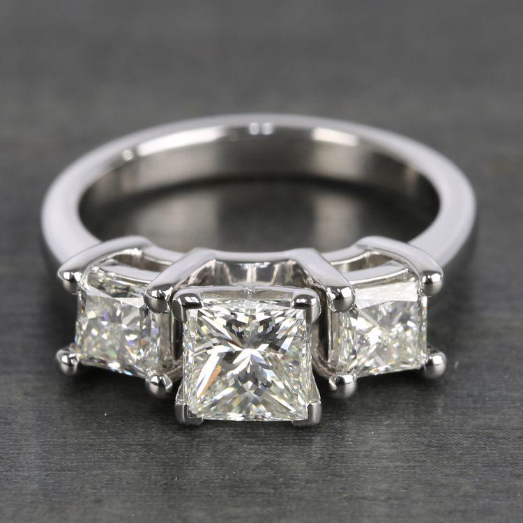 Three-Stone Princess Diamond Engagement Ring (2.25 Carat)