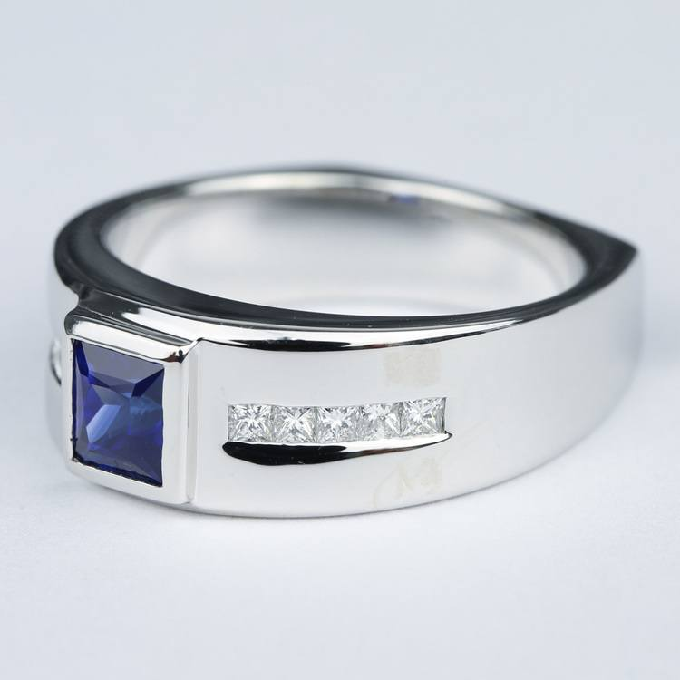 Blue Sapphire Orion Diamond Mangagement™ Ring angle 2